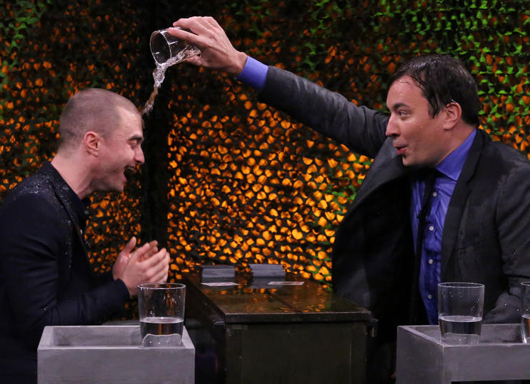 Jimmy Fallon And Daniel Radcliffe Battle It Out In 'Water War'