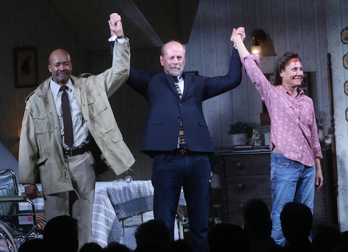 Bruce Willis, Laurie Metcalf & Leon Addison Brown Take Bow At 'Misery' Curtain Call