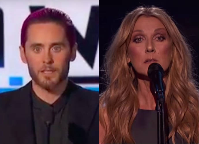 Jared Leto And Celine Dion Honor Victims Of Paris Terror Attacks At American Music Awards