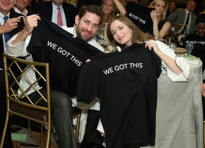 Emily Blunt And John Krasinski Attend Family Reach's Cooking Live Event