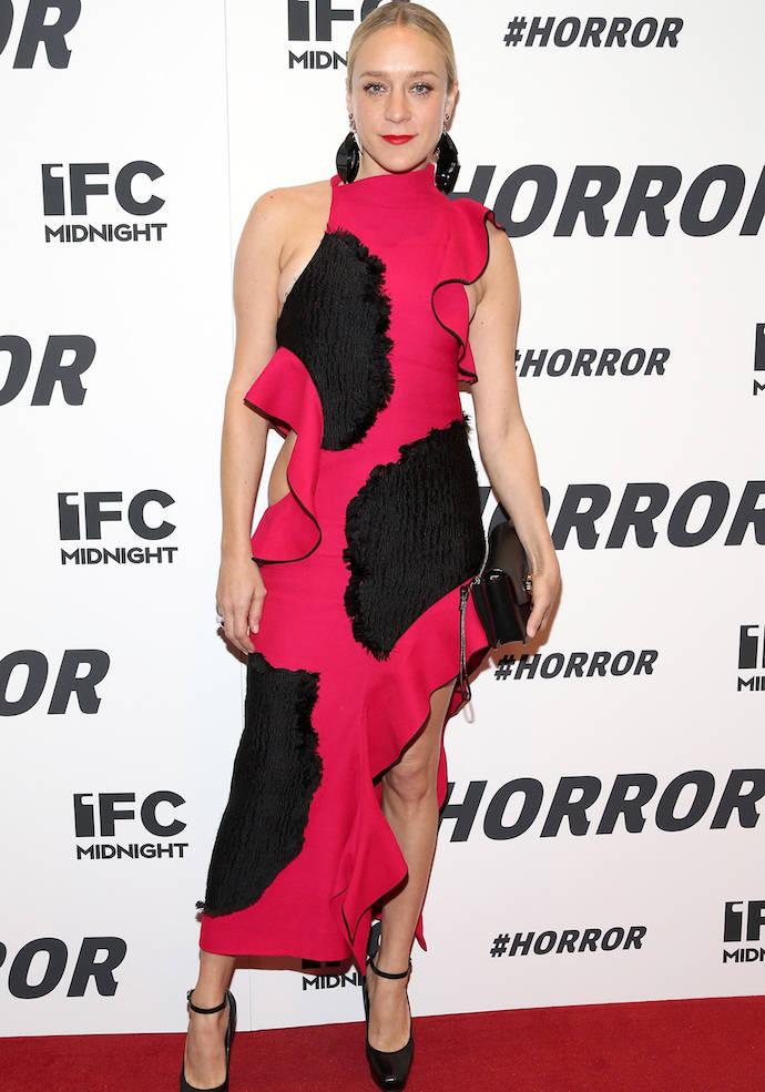Chloe Sevigny Wore A Bold, Asymmetrical Dress For '#Horror' Premiere