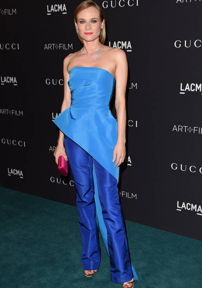 Diane Kruger Wows In Blue At LACMA Gala