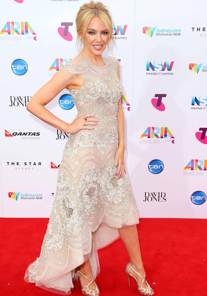 Kylie Minogue Dazzles At 2015 ARIA Awards