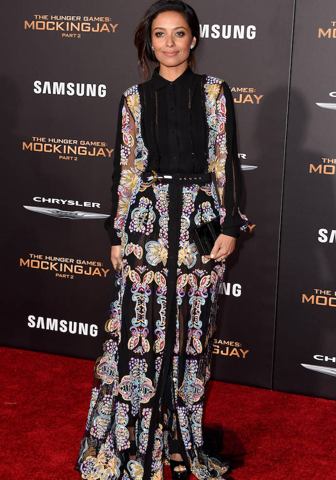 Meta Golding Dazzles At 'Mockingjay Part 2' Premiere In Los Angeles