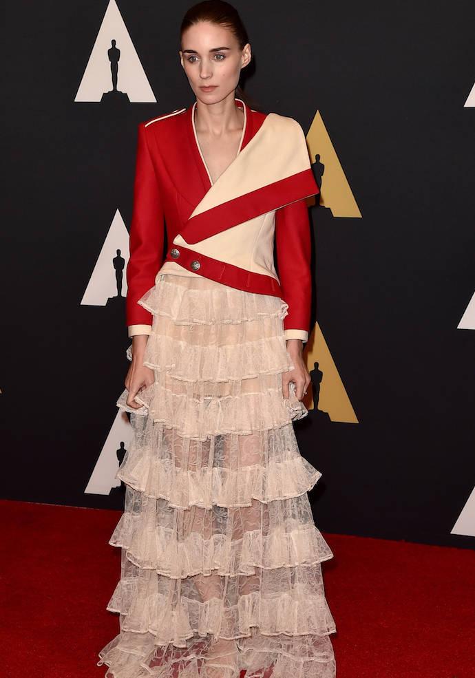Rooney Mara Rocks Military Style Jacket To Governors Awards