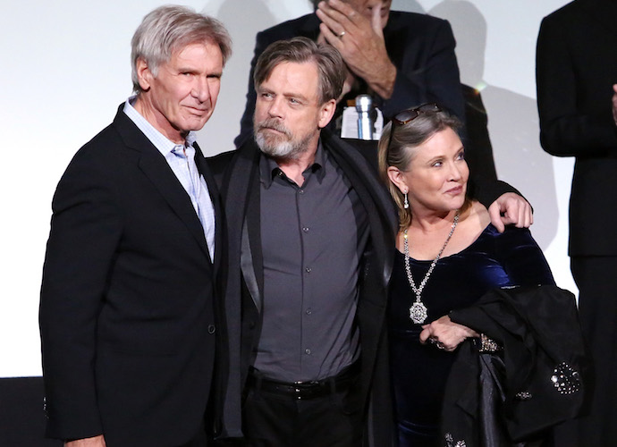 Harrison Ford, Carrie Fisher And Mark Hamill Reunite At The 'Star Wars: The Force Awakens' Premiere