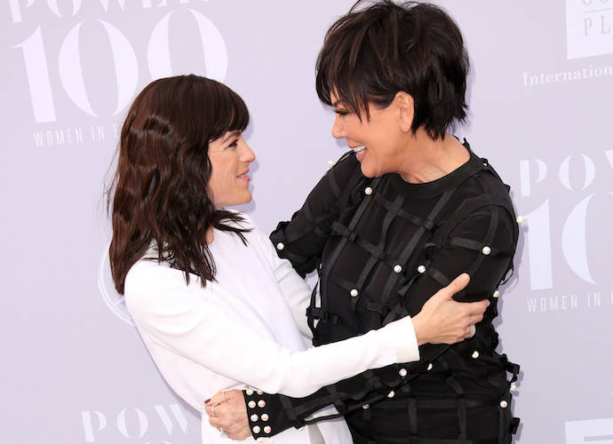 Selma Blair And Kris Jenner Embrace On Women In Entertainment Breakfast Red Carpet