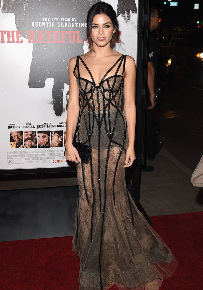 Jenna Dewan-Tatum Goes Sheer For 'The Hateful Eight' Premiere