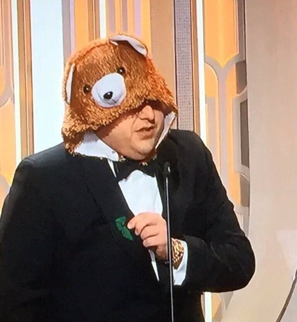 Jonah Hill, Dressed As The Bear From 'The Revenant,' Bleeped Four Times At Golden Globes 2016