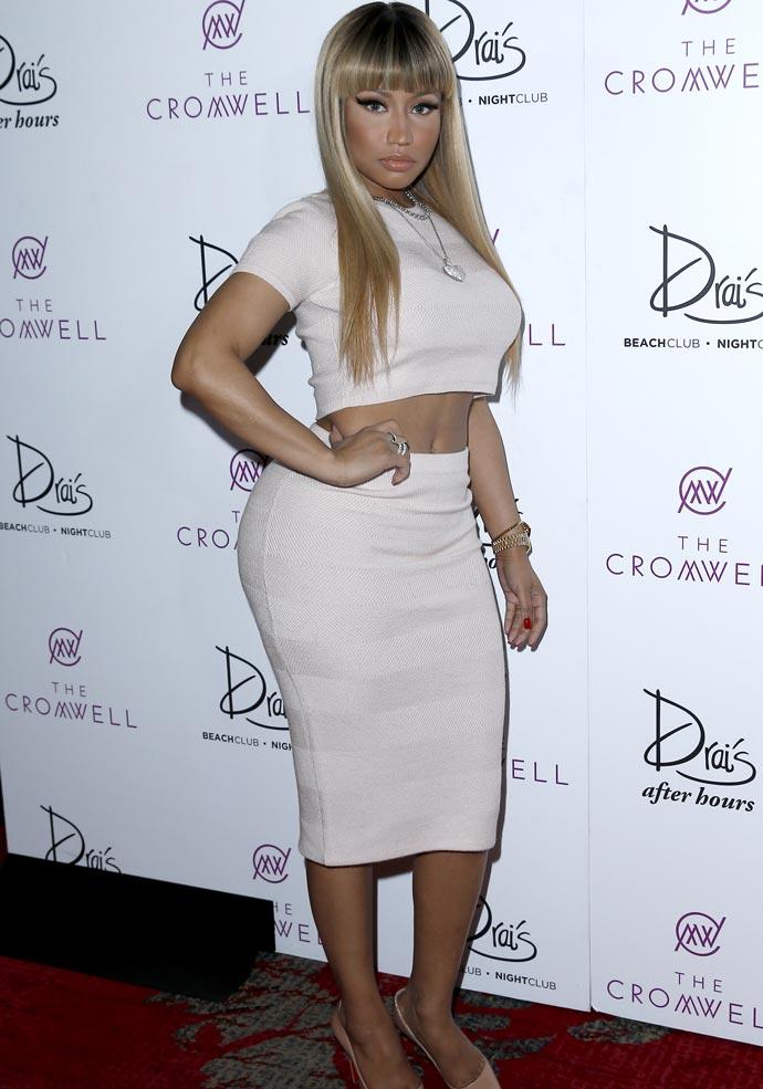 Get The Look: Nicki Minaj's NYE Crop Top Skirt Set