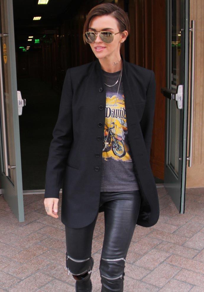 Get The Look: Ruby Rose Rocks Leather