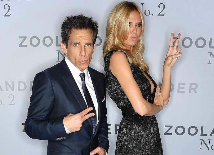 Ben Stiller And Heidi Klum Goof Around At 'Zoolander 2' Premiere