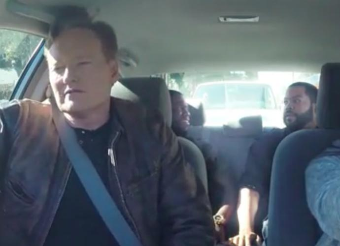 Kevin Hart And Ice Cube Help Conan O'Brien Give Crazy Driving Lesson