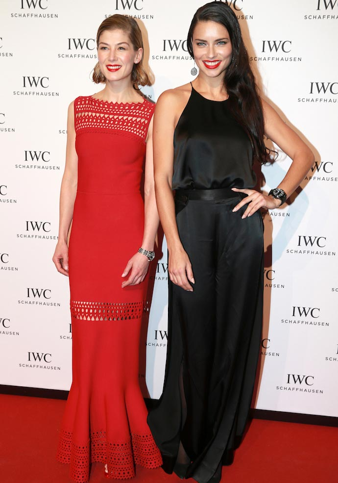 Rosamund Pike And Adriana Lima Wowed At The IWC 'Come Fly With Us' Gala