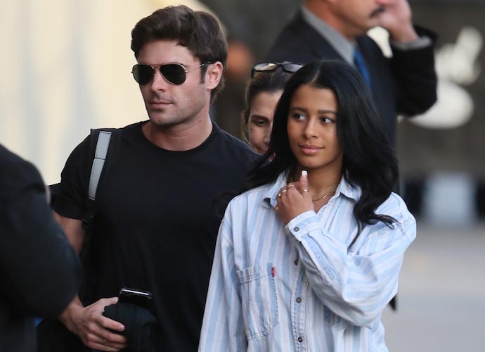 Zac Efron Brings Girlfriend Sami Miro To 'Jimmy Kimmel Live' Taping