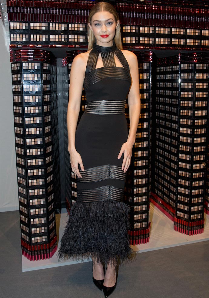 Gigi Hadid Looked Glam At Maybelline Make-Up Show In Berlin