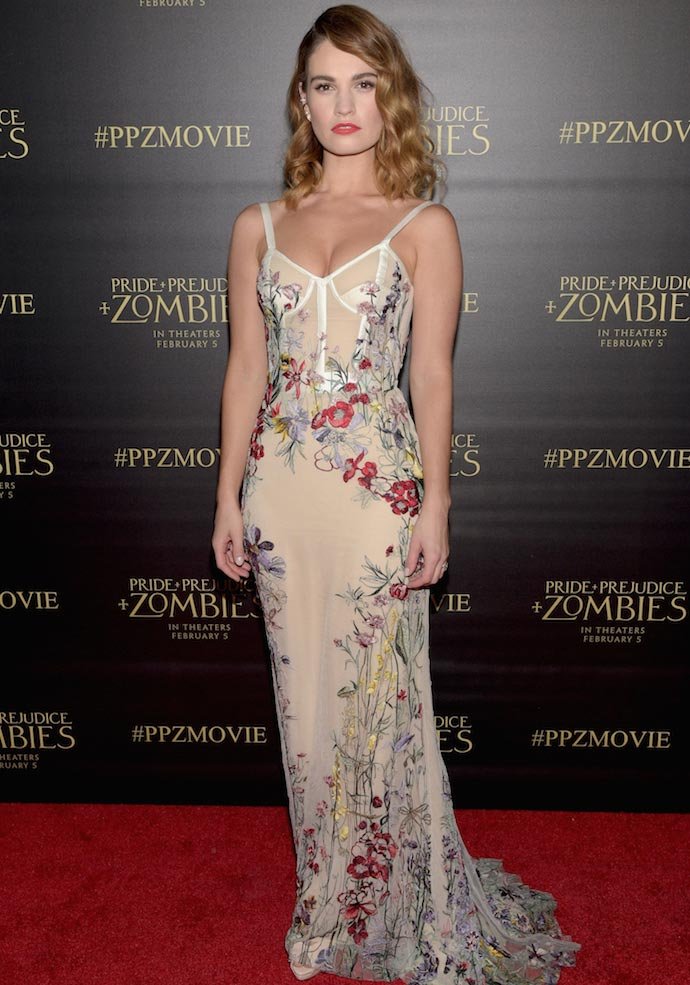 Lily James Attends \'Pride & Prejudice & Zombies\' Premiere In ...