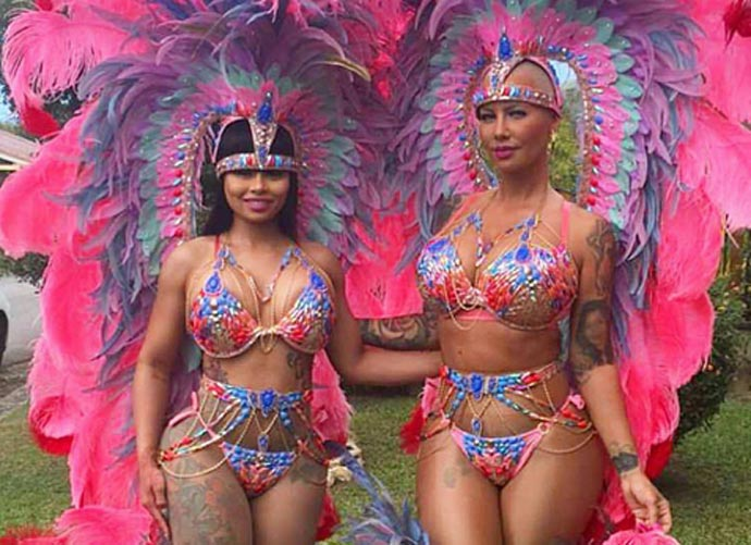Amber Rose And Blac Chyna Take Over Trinidad Carnival 2016 Showing Off Their Ass-ets