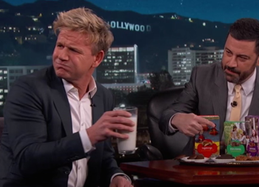 Gordon Ramsay Says Girl Scout Cookies Are Like 'Dog Biscuits' On 'Jimmy Kimmel Live'