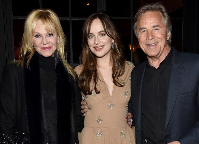 Dakota johnson brought parents melanie griffith don johnson to dakota johnson brought parents melanie griffith don johnson to how to be single ccuart Image collections