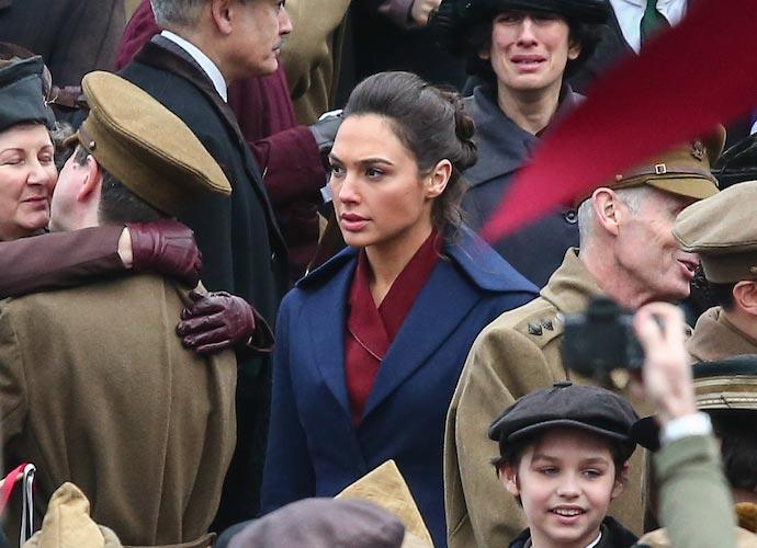 Gal Gadot Films 'Wonder Woman' In London's Trafalgar Square