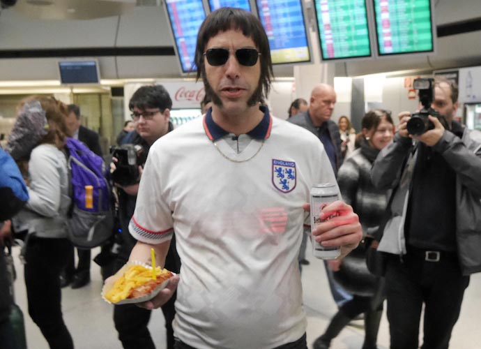 Sacha Baron Cohen Threatened By Liam Gallagher, Modeled 'Grimsby' Look On Musician