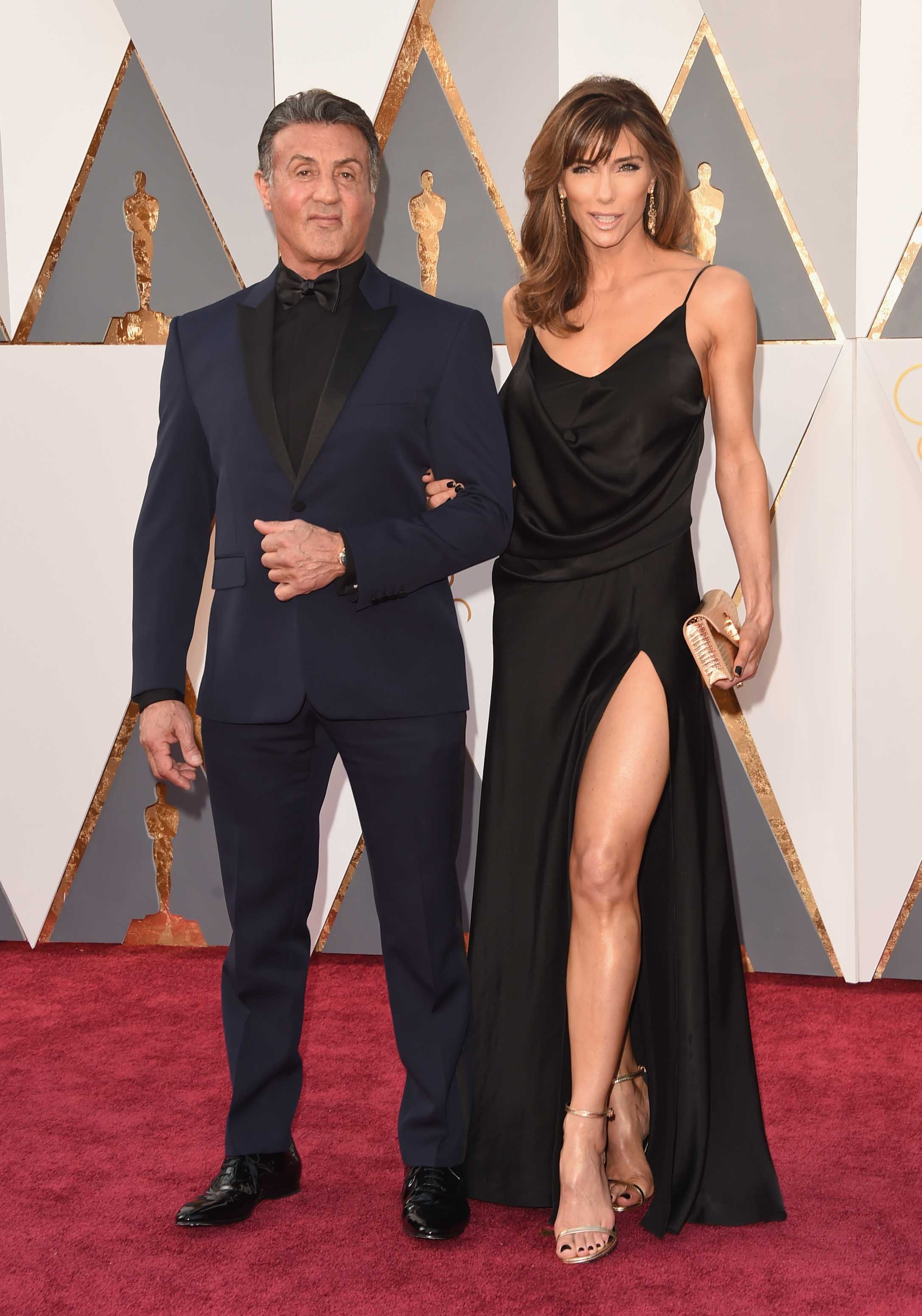 Sylvester Stallone And Jennifer Flavin Walk The Red Carpet ...