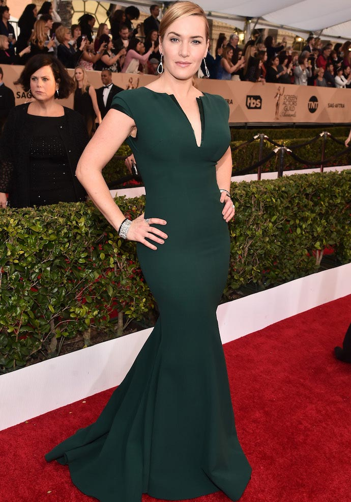 Kate Winslet Stunned In Armani At SAG Awards