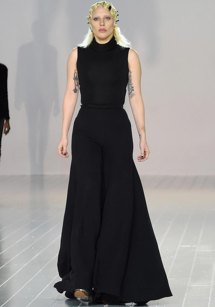 Lady Gaga Models For Marc Jacobs At New York Fashion Week