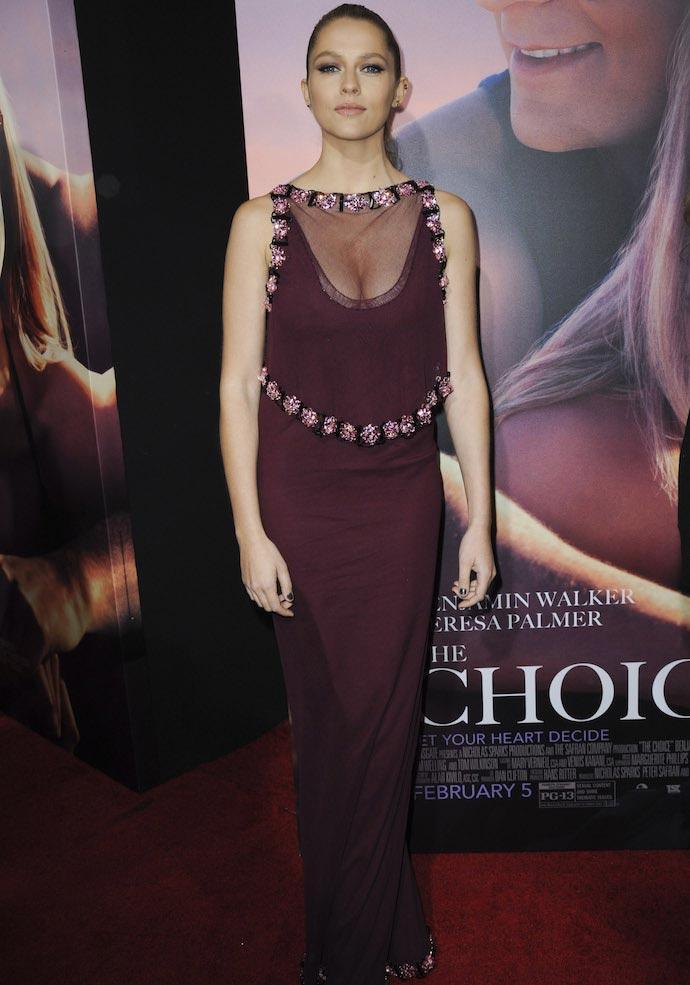 Teresa Palmer Attends 'The Choice' Premiere In Prada