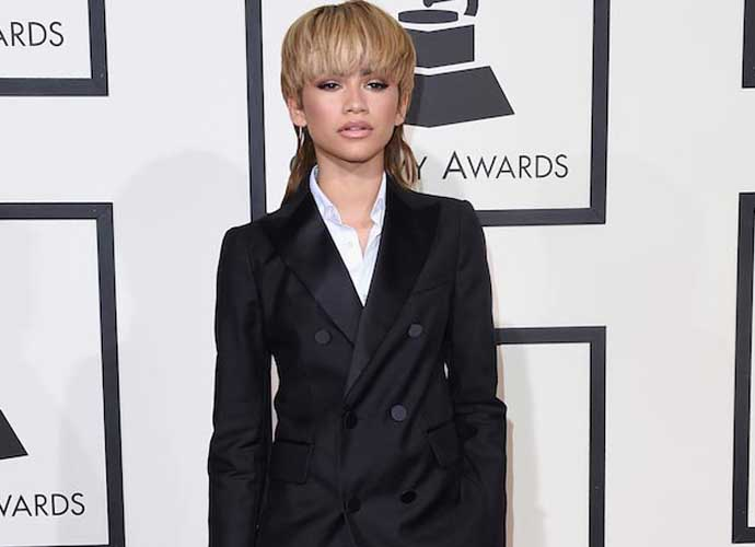 Zendaya Sports Blonde Mullet At The 58th Annual Grammys, Responds To Haters
