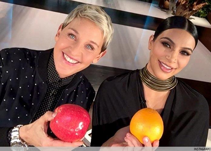 Ellen DeGeneres Photobombs Kim Kardashian's Nude Picture