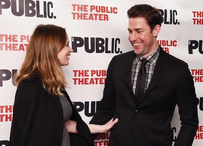 Pregnant Emily Blunt Supported Husband John Krasinski At Opening Night Of His Play 'Dry Powder'