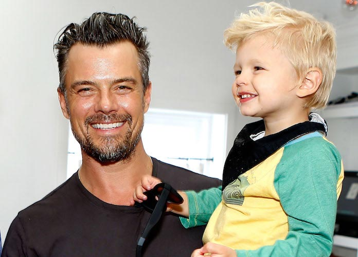Josh Duhamel And Son Axl Attend TOMS And Oceana Event