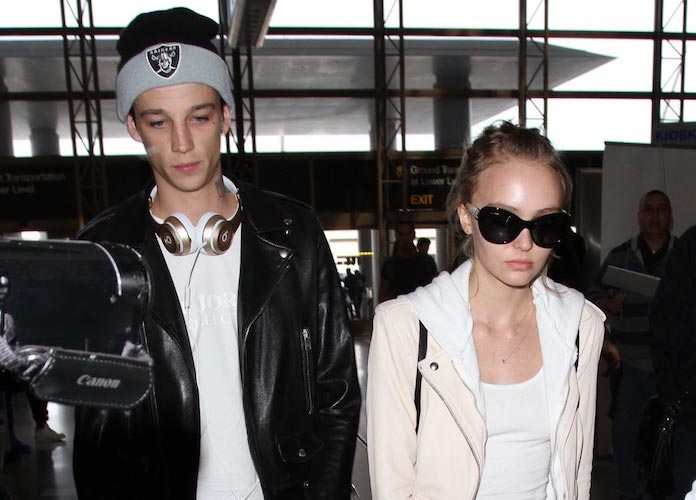 Lily Rose Depp Arrives At LAX With Rumored Boyfriend Ash ...