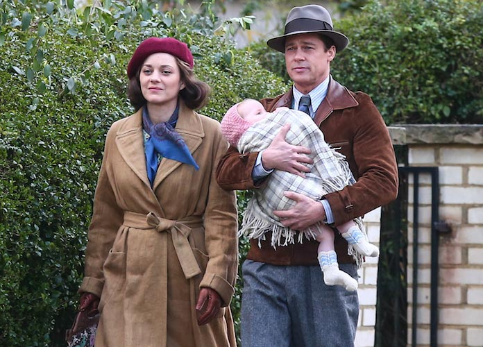 Marion Cotillard And Brad Pitt Film 'Five Seconds Of Silence' In London