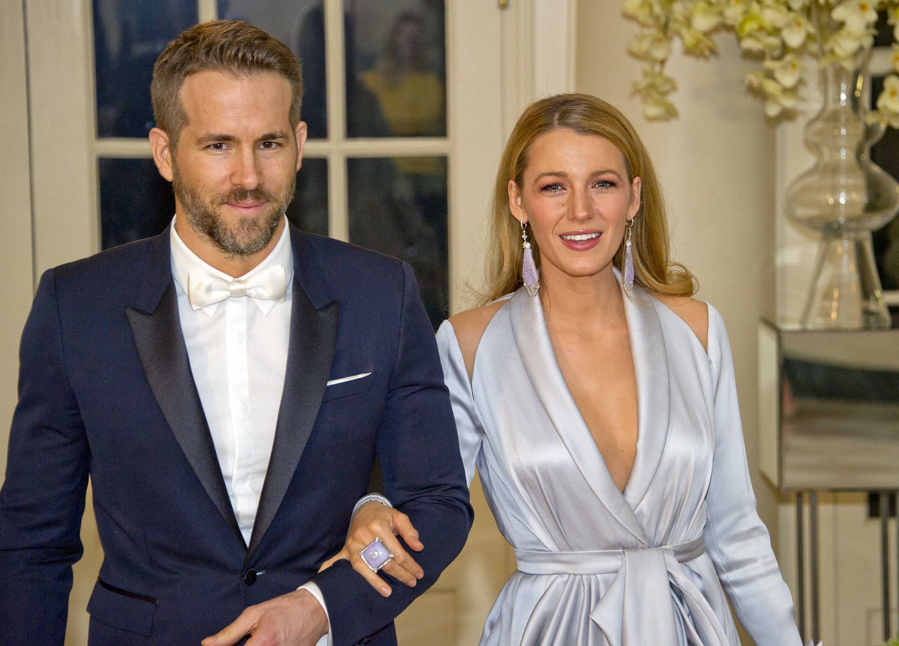 Ryan Reynolds And Blake Lively Make Show-Stopping Appearance At White House State Dinner