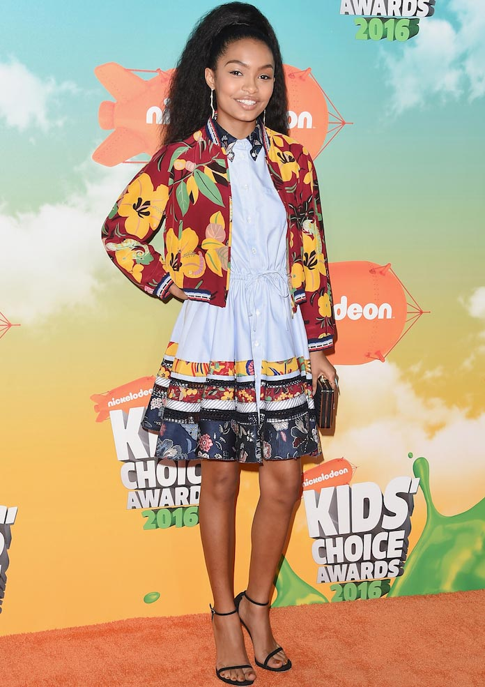 Yara Shahidi, 'Blackish' Star, Wears Sporty Getup To Kids Choice Awards