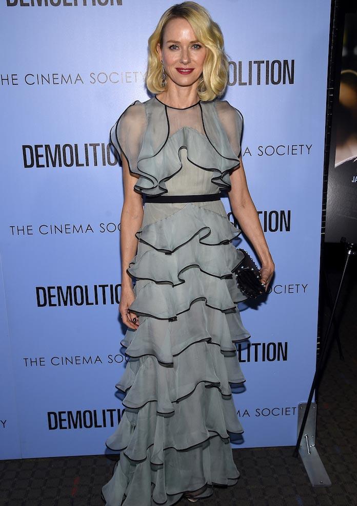 Naomi Watts Attends 'Demolition' Screening In Ruffled Number
