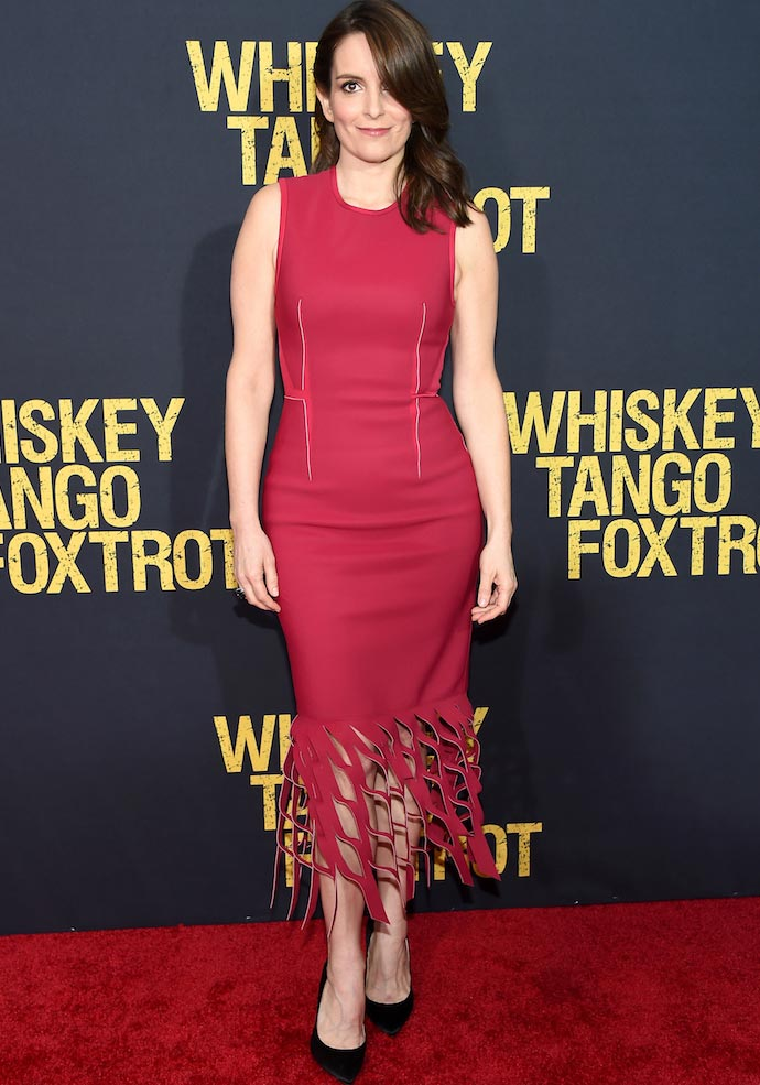 Tina Fey Stunned In Dion Lee At 'Whiskey Tango Foxtrot' Premiere