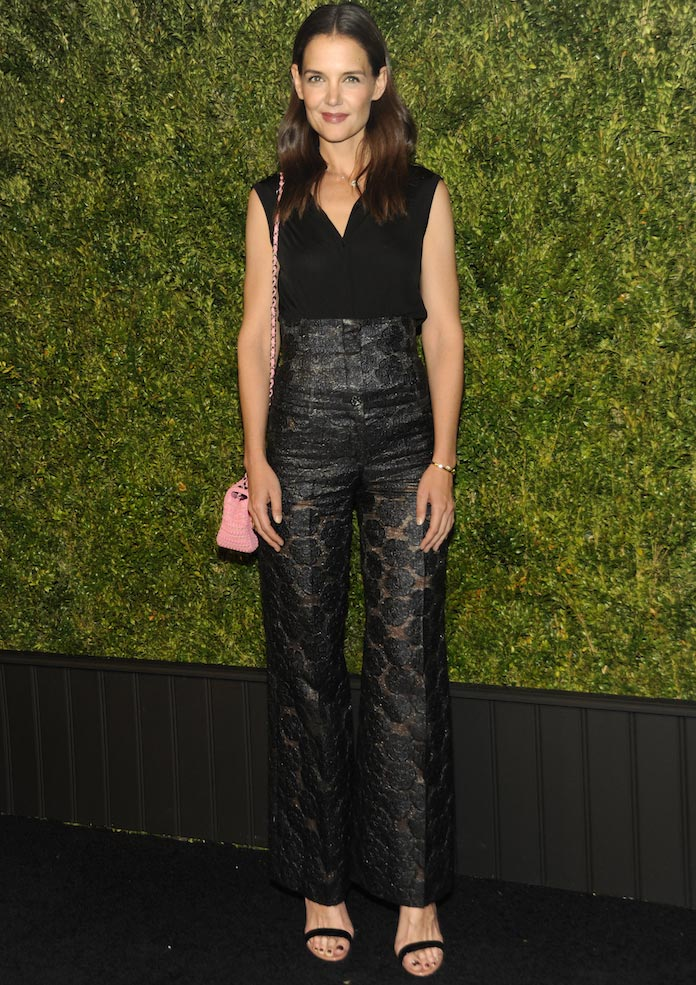 Katie Holmes Attended The Chanel Tribeca Film Festival Artists Dinner In An All-Black Look