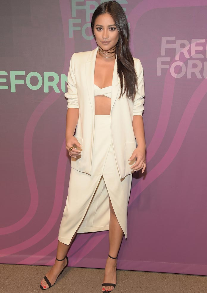 'Pretty Little Liars' Star Shay Mitchell Wows In White At ABC Freeform Upfront