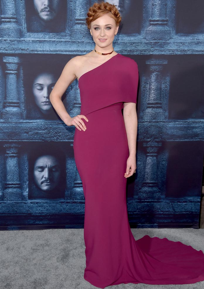 Sophie Turner Arrives At 'Game Of Thrones' Premiere In One-Shoulder Number