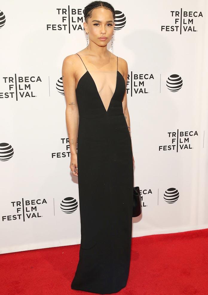 Zoe Kravitz Wore Spaghetti Strap Dress To 'Vincent  N Roxxy' Premiere