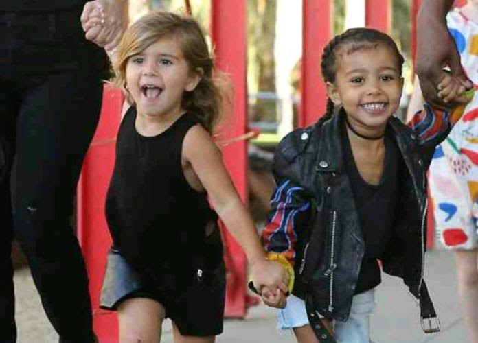 North West And Penelope Disick Have A Blast At L.A. Art Museum