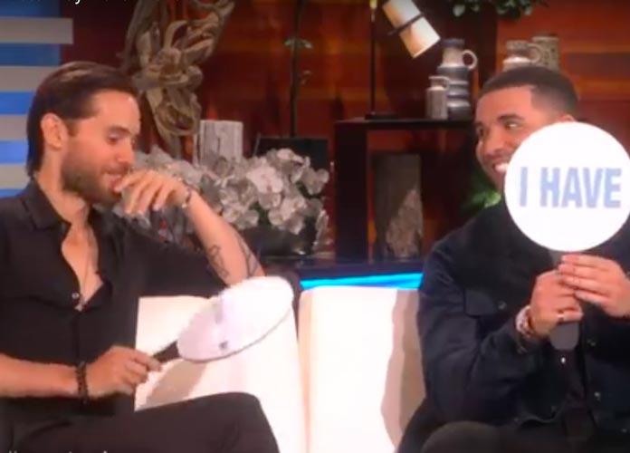 Jared Leto & Drake Play Never Have I Ever On 'Ellen'
