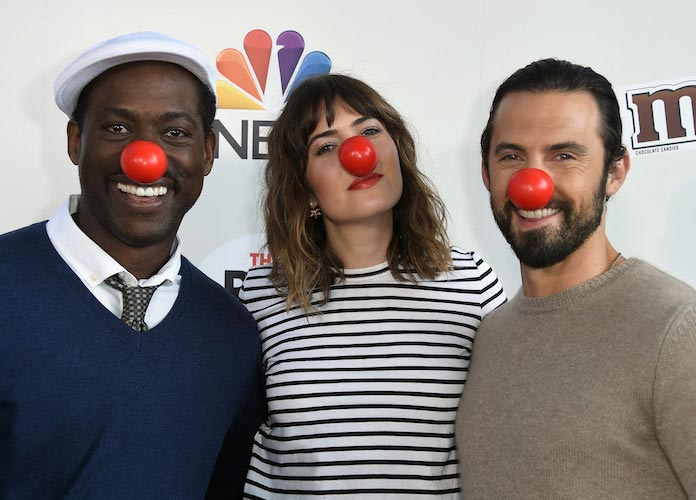 Sterling K. Brown, Mandy Moore & Milo Ventimiglia Celebrate Red Nose Day