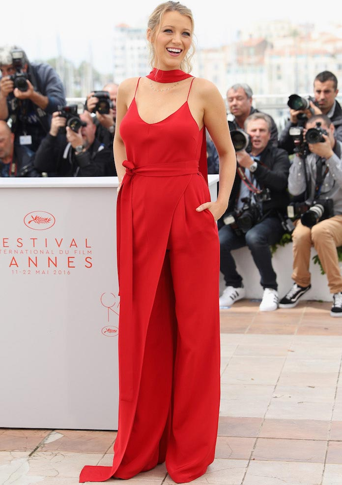 Blake Lively Stood Out In Red At 'Cafe Society' Photocall At Cannes