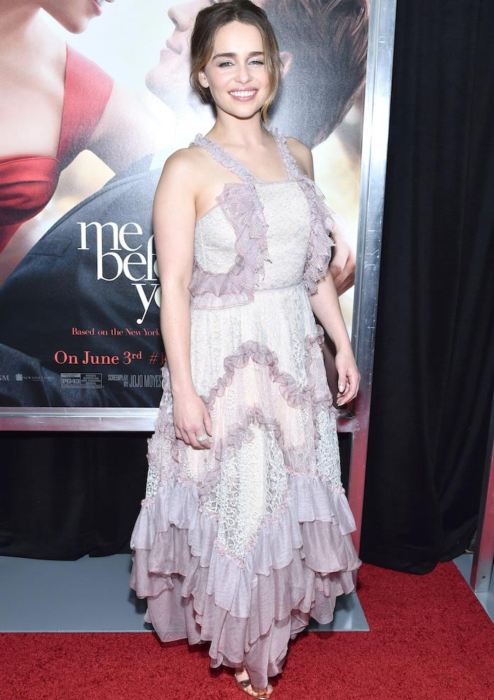 Emilia Clarke Rocks Lilac Look For 'Me Before You' World Premiere