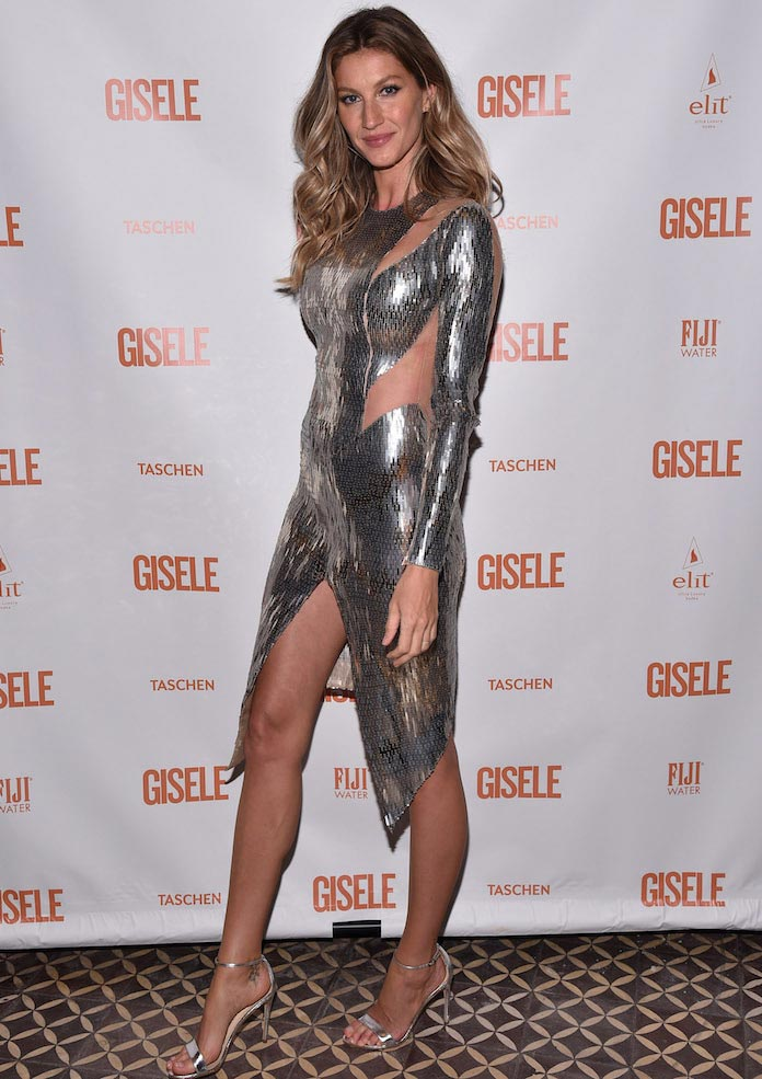Gisele Bundchen Stuns In Metallic Look At Spring Fling ...